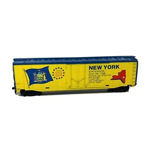 Vintage HO Tyco New York 11th State of the Union 50' Box Car D