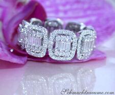 Erstklassiger Diamant Memory Ring im Carré Design 2.18 ct. TW VS1/2 WG 750 9300