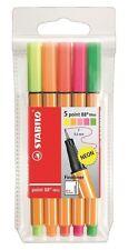 Stabilo Point 88 Fineliner Mini - 0.4 mm, neonassorted Colores, billetera de 5