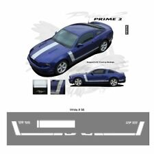 Ford Mustang 2013+ GT Style Hood and Side Stripes Graphic Kit - Bright White
