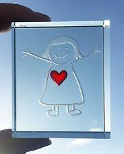Spaceform Vidrio Token Rojo Corazón Huggy Chica amor abrazos Recuerdo Caja De Regalo De Cumpleaños