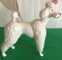 BESWICK DOG POODLE  MODEL No 1386 WHITE GLOSS FINISH PERFECT