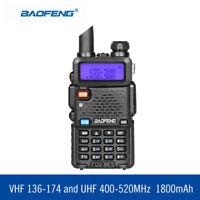 BaoFeng 8W UV-5R Walkie Talkie 136-174/400-520MHz Two Way Radio Long Range 128CH