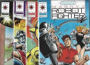 VINTAGE MAGNUS ROBOT FIGHTER #1-#4 SET (NM-) VALIANT COMICS