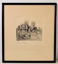 EDWARD J CHERRY F.R.S.A-ORIGINAL VINTAGE ETCHING C.1920 SIGNED ARTIST PROOF