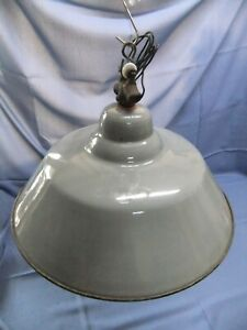 Alte Emaille Industrielampe Fabriklampe Vintage  Nr. 59