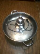 """FARBERWARE Round Electric Fry Pan Skillet model FSS344 12"""" Glass Dome Lid"""