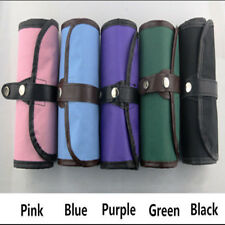 36 Holes Canvas Curtain Sketch Holder Pouch Roll Pen Pencil Case Bag Storage Black