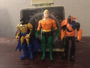 Slade Batman Aquman Figures