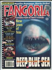 FANGORIA #185 - DEEP BLUE SEA COVER - GENE SIMMONS/KISS - AUGUST/1999