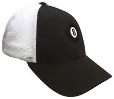 8 Ball Eight Ball Black & White Mid Profile Mesh Golf Trucker Cap Caps Hat Hats
