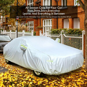 Heavy Duty Waterproof Full Car Cover All Weather Protection Outdoor Dust Sun 3XL