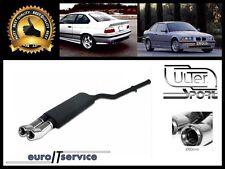 SILENCIEUX POT D'ECHAPPEMENT BMW E36 4 CYL. 1990-1995 1996 1997 1998 TIP 2x80