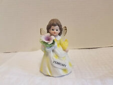 Vintage February Birthday Angel of the Month Figurine 4 1/4""