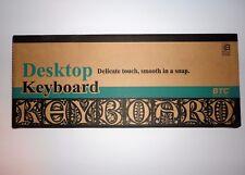 BTC Microsoft Windows Desktop Keyboard Beige New In Box #5123W - Wired - QWERTY