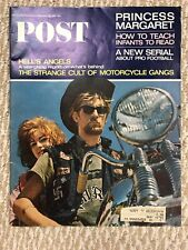 Saturday Evening Post Magazine November 1965 Hell's Angels Motorcycle Gangs (F)