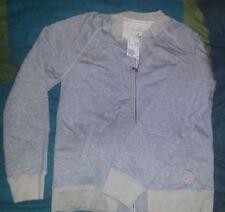 NEW Small H&M Ladies Grey Zip Zipped L.O.G.G. (LOGG) Sweat Shirt Top - FREE P&P