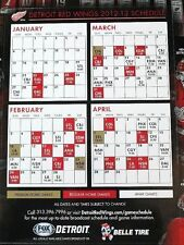 "Detroit Red Wings 2013 Short Season SCHEDULE MAGNET 1/29/13 SGA 8"" x 6"" JLA DRW"