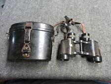 Wwii German Army Binoculars W/ Bakelite Case-6x30-Nice Pair