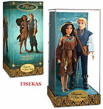 Disney Fairytale Designer Collection LE Pocahontas & John Smith Doll 11.5 in NEW