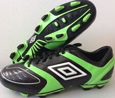 Mens Umbro Stealth Pro Football Shoes Boots FG A Black Green UK 10 80024U T144