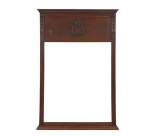 19th Century Neoclassical Style Carved Walnut Mirror