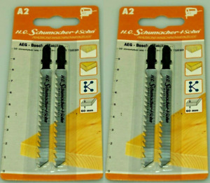 German High Quality Jigsaw Blades Compatible with Bosch T101D 2 Packs of 2