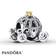 Authentic Pandora Disney Cinderella's Pumpkin Coach Charm 791573CZ with #Pouch