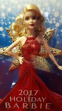 New In Box ♡ 2017 Holiday Blonde Barbie Doll ♡ Caucasian ♡ Beautiful Doll