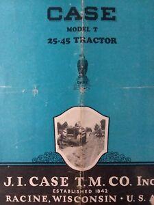 CASE model T 25-45 Tractor Farm COLOR Sales Brochure J.I. 1924 - 1927 Crossmotor