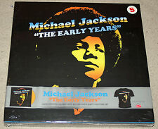Michael Jackson The Early Years Yellow Vinyl Small T-Shirt OOP