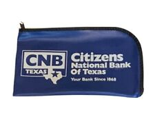 Citizens National Bank Of Texas Zippered Bank Bag