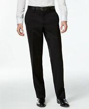 $210 CALVIN KLEIN 40W X 39L Men's Black Wool FIT FLAT FRONT DRESS PANTS TROUSERS