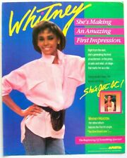 WHITNEY HOUSTON 1985 POSTER ADVERT DEBUT ALBUM