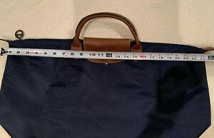 New Longchamp Le Pliage Nylon Authentic Travel Bag navy blue