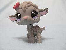 Littlest Pet Shop #477 Grey LAMB SHEEP with Purple Flower Eyes 100% Authentic