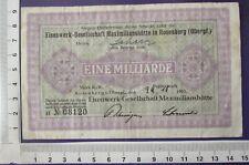 Rosenberg Eisenwerk-Gesellschaft Maximilanshütte, 1 Mrd Mark, 24.10.23 Serie H