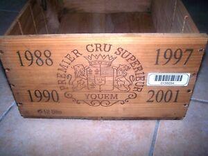 caisse bois vide chateau Yquem prestige 1988 1990 1997 2001 original wood case