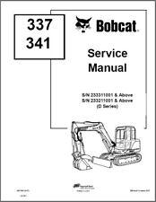 Bobcat 337 341 G D Series Compact Excavator Service Repair Manual On A Cd