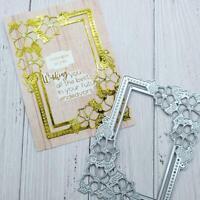 Frame Border Flower Metal Cutting Dies Card Making Scrapbooking Stencil Craft