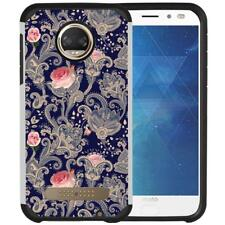 Paisley Floral Indian Design Case Hybrid Phone Cover for Motorola Moto Z2 Force