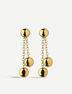 LINKS OF LONDON Ladies Amulet 18ct Gold Vermeil Drop Earrings RRP90 NEW