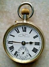 WEST END DOST BOMBAY CALCUTTA WINDING POCKET WATCH PORCELAIN DIAL VINTAGE