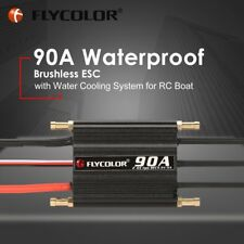 FLYCOLOR 2-6S 90A Waterproof Brushless ESC 5.5V/5A BEC for RC Boat Ship DJ
