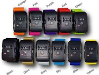 Luggage Strap Suitcase Bag Belt With/Without Lock Safe 180cm x 5cm - 11 colours