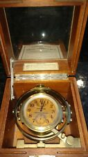 WW II HAMILTON SHIP MOUNTED CHRONOMETER WATCH, MODEL 22