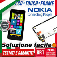 DISPLAY LCD+TOUCH SCREEN+FRAME ORIGINALE! PER NOKIA LUMIA 630 635 SCHERMO VETRO!
