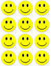 "Happy face smiley Wholesale Button Pins~ 2.25""inch Large round Badges #12 Pack"
