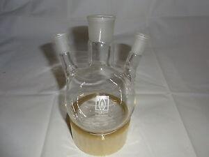 Dreihalskolben 500 ml Destille  NEU Laborglas Laboreinrichtung Laborzubehör