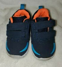 Baby Boys Carter Shoes Blue Orange Size 3.5
